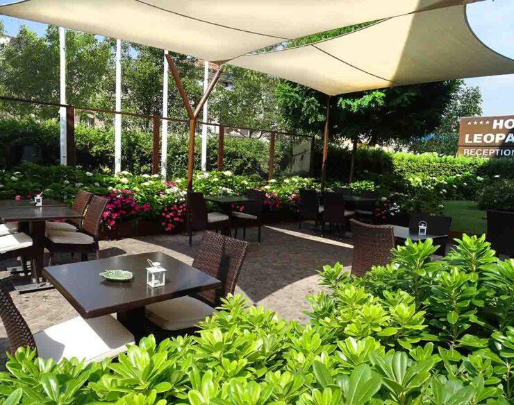 Il ristorante in giardino