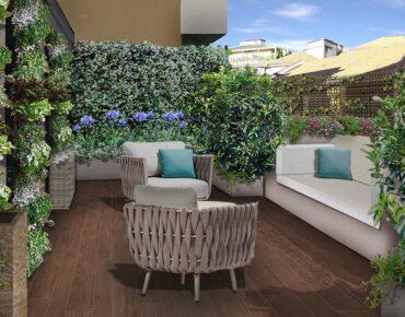 terrazzo fashion con salotto