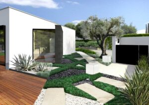 Progetto giardino asimmetrico