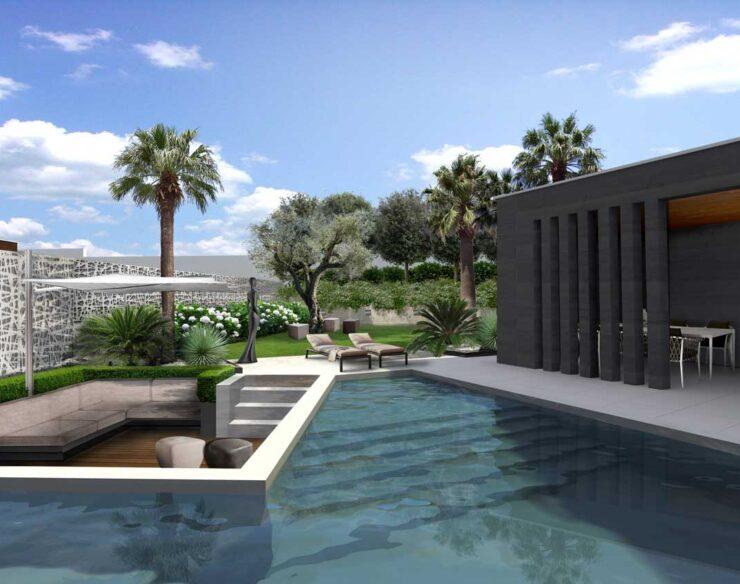 Il giardino moderno sul Lago di Garda
