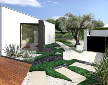 L'entrata del giardino moderno