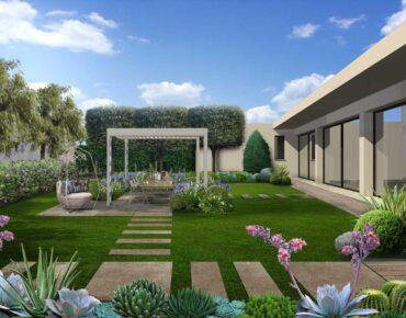 progetto giardino con gazebo