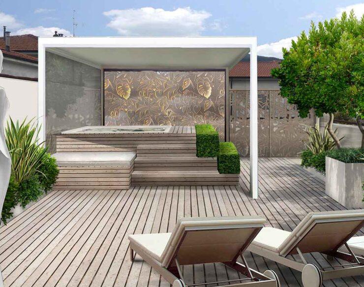 Il terrazzo raffinato idromassaggio-