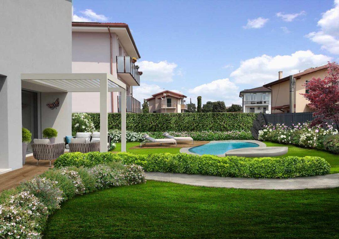 progetto giardino verona con piscina