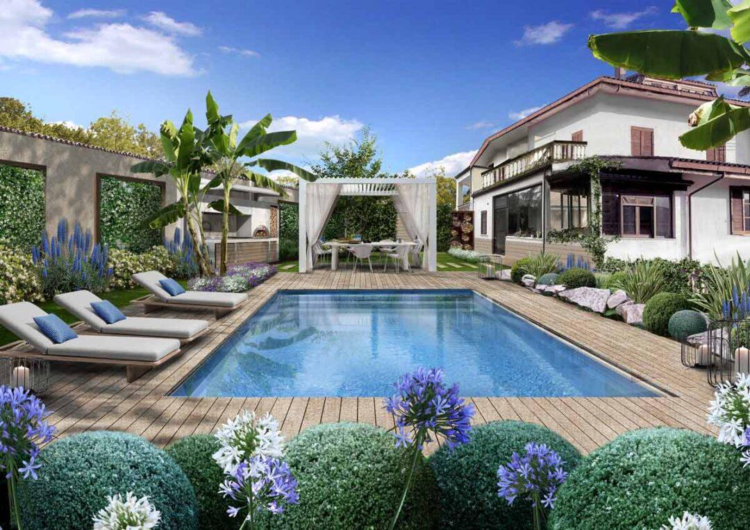 Il giardino con gazebo