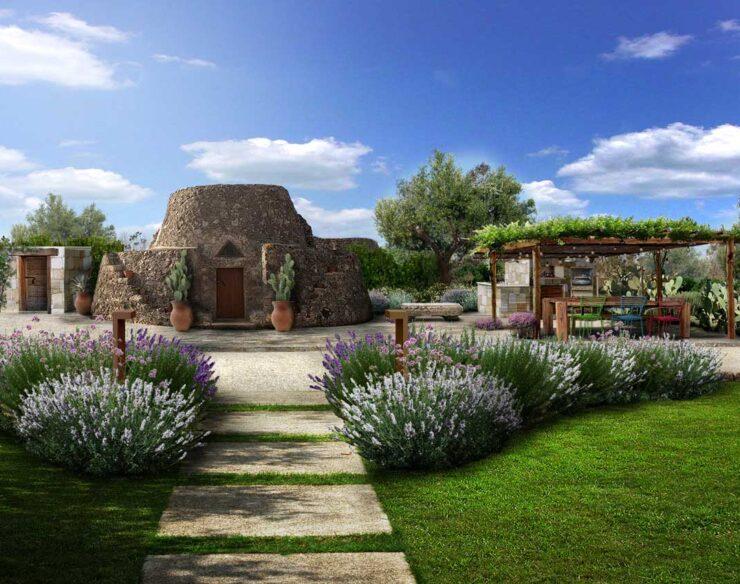 giardino rustico mediterraneo