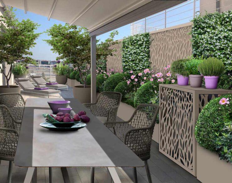 terrazzo accogliente a milano
