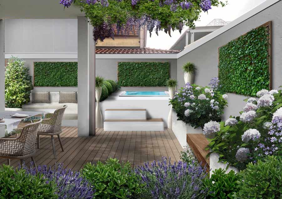 progettare il giardino e ottimizzare lo spazio