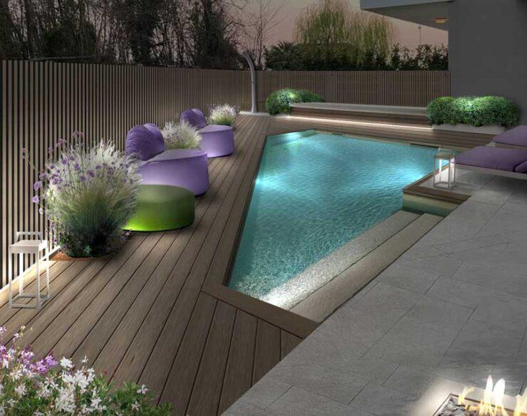 piscina forma irregolare